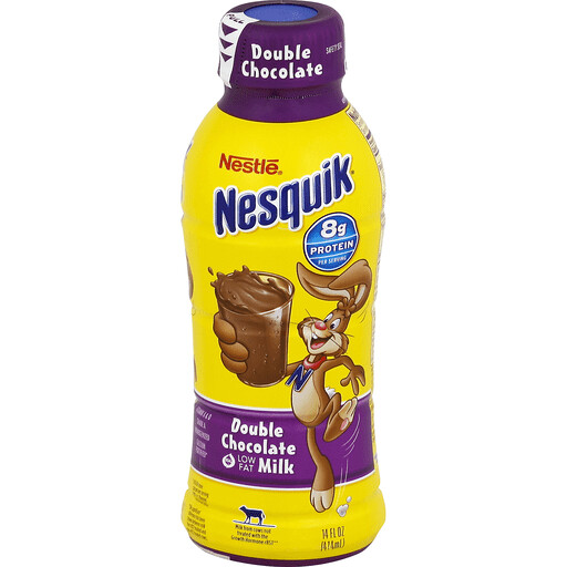 * Nesquik Double Chocolate Milk 14 Ounces