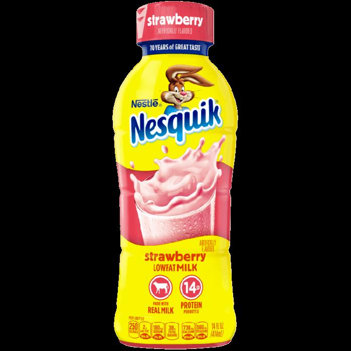 * Nesquik Strawberry Milk 14 Ounces