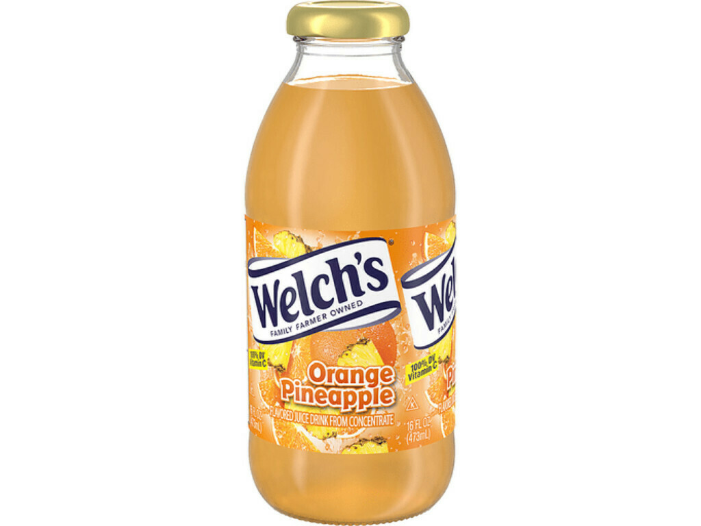 * Welch's Orange Pineapple 12-16 Ounces Glass