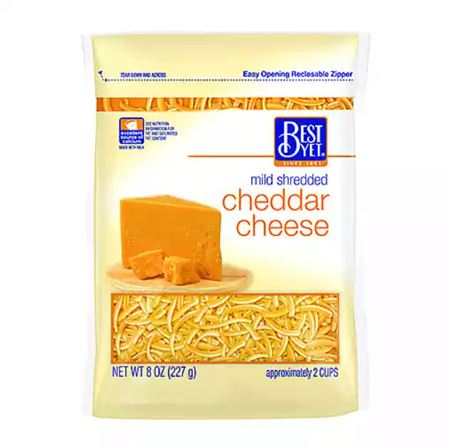 * Best Yet Shredded Cheddar 16 Ounces