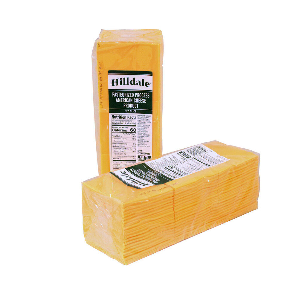 * Hilldale American Yellow Cheese (120 Slices) 5 Pounds