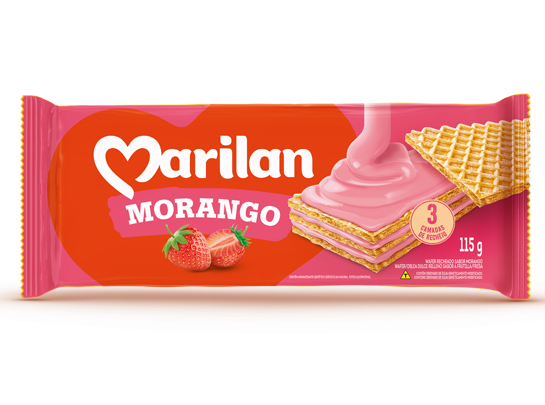 * Marilan Strawberry Wafer 115 Grams
