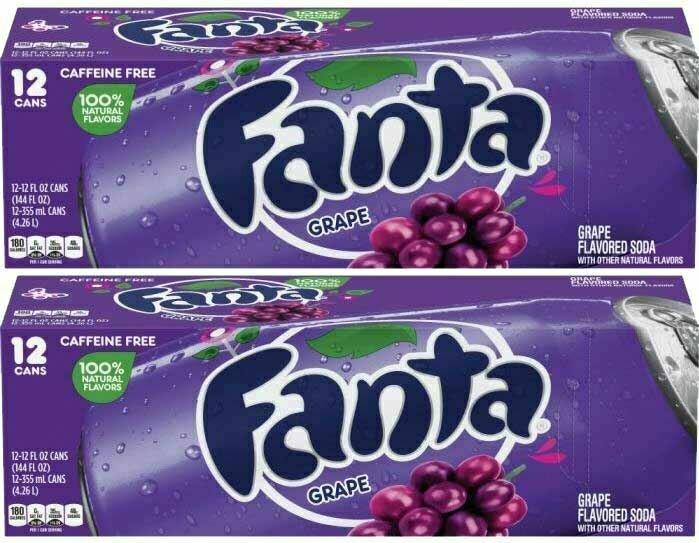 * Fanta Grape Soda 24x12 Ounces
