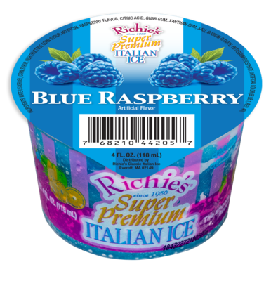 * Richie's Blue Raspberry 4 Ounce Cup