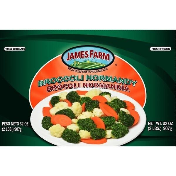 * Frozen James Farm Broccoli Normandy 2 Pounds