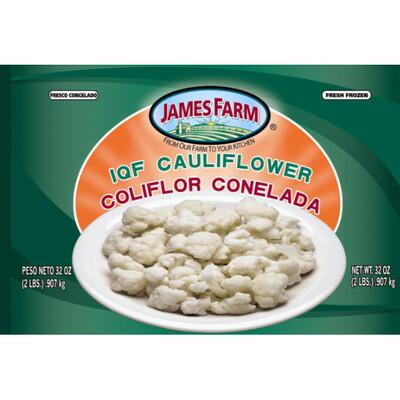 * Frozen James Farm Iqf Cauliflower 2 Pounds
