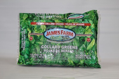 * Frozen James Farm Iqf Collard Greens 2 Pounds