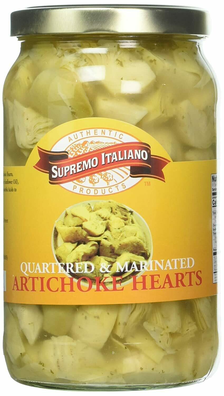 * Supremo Italiano Quartered Artichoke Hearts 2 Pounds