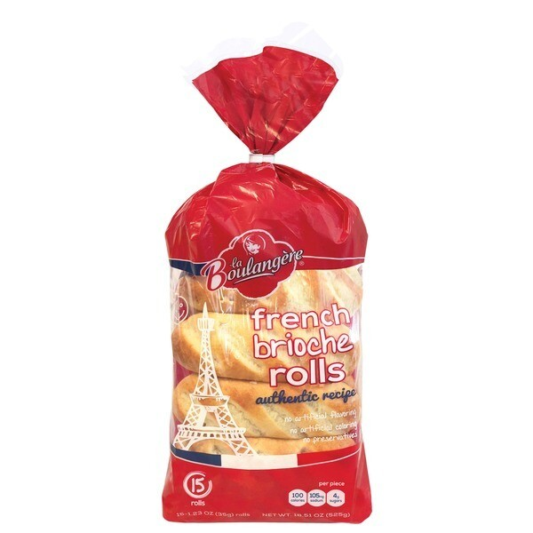 * La Boulangerie Des Gourmets Imported French Mini Rolls 12 Count