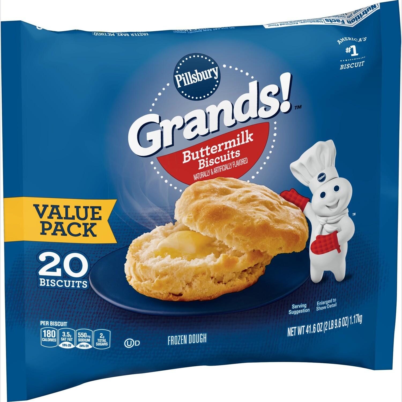 * Frozen Pillsbury Baked Buttermilk Biscuits, 2.25 Ounces, 24 Count