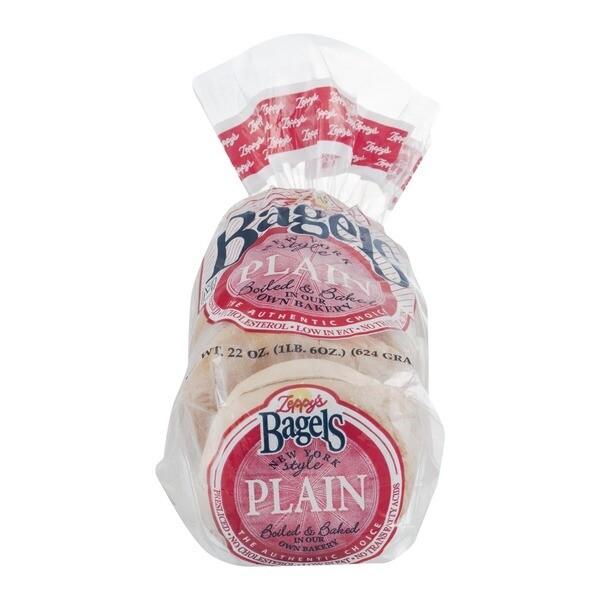 * Zeppy's Plain Bagels 6 Count