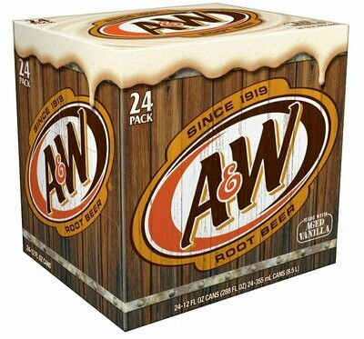 * A&W Root Beer 24-12 Ounces Cans