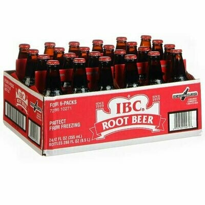 * IBC Root Beer With Real Sugar 12 Ounces, 24 Count
