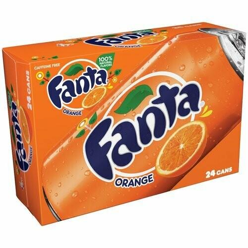 * Fanta Orange Soda 24-12 Ounces Cans