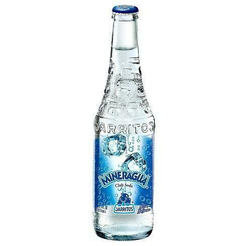 * Jarritos Mineragua (Club Soda) 24-12.5 Ounces Glass Bottles