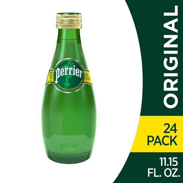 * Perrier Sparkling Mineral Water 24-11 Ounce Glass Bottles