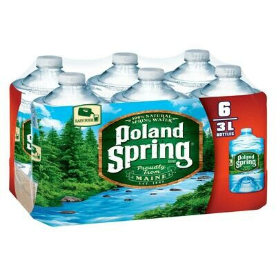 * Poland Spring Water 6-3 Ltr