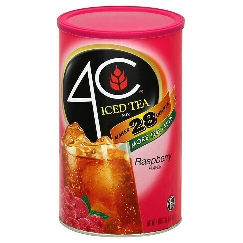 * 4C Iced Tea Raspberry Flavor Mix 35 Qt