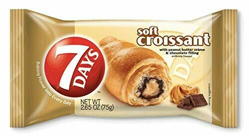 * 7 Day Peanut Butter Chocolate Croissant 6 Count