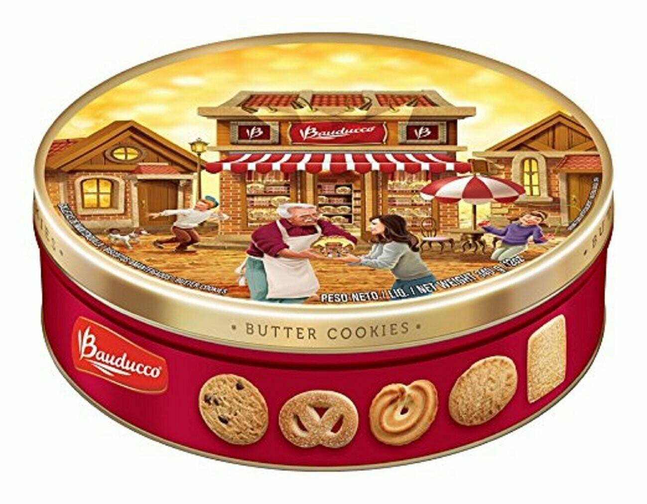 * Bauducco Butter Cookies Tin 12 Ounces