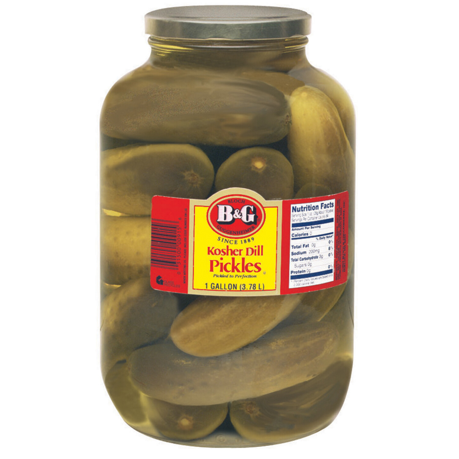 * B&G Whole Dill Pickles, 14-16 Count Gallon