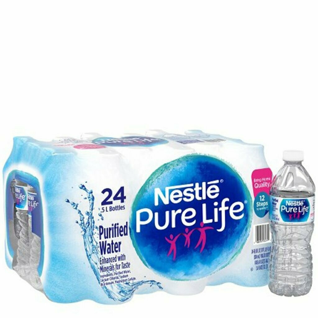 * Nestle Pure Life Water 24-24 Ounce Plastic Bottles