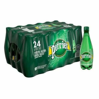 * Perrier Sparkling Mineral Water 24-16.9 Ounces Plastic Bottles