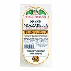 * Belgioioso Mozzarella Thin Sliced 1 Pound