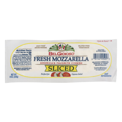 * Belgioioso Sliced Mozzarella Cheese 1 Lb