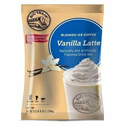 * Big Train Vanilla Latte Blended Ice Coffee Mix 3.5 Lb