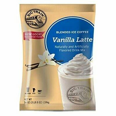 * Big Train Vanilla Latte Blended Ice Coffee Mix 3.5 Lb