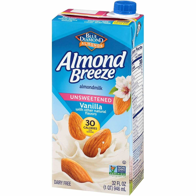 * Blue Diamond Fresh Vanilla Almond Milk 64 Ounces