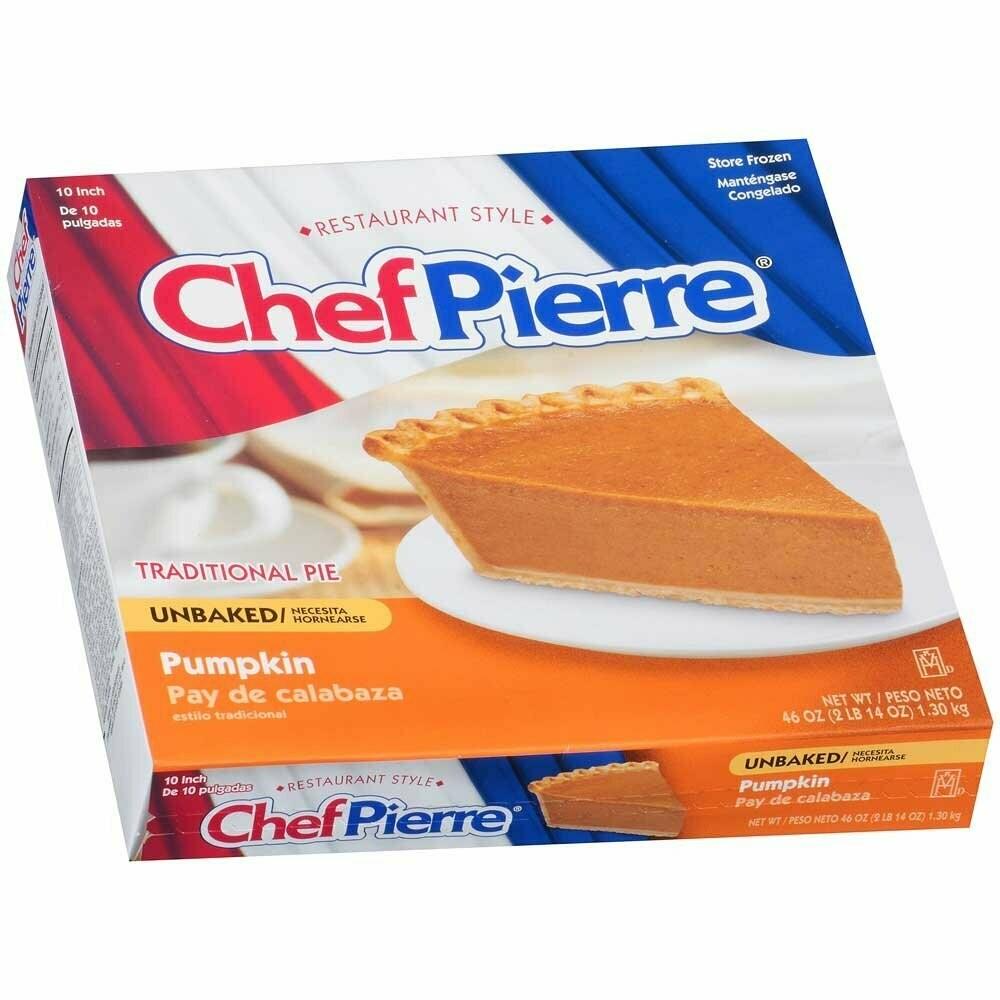 """* Chef Pierre Unbaked Pumpkin Pie 10"""""""