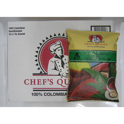 * Chef's Quality Colombian Decaffeinated Coffee 42-2 Ounce Packets