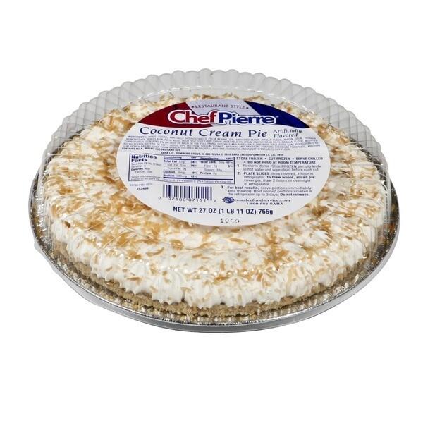 * Chef Pierre Unbaked Coconut Custard Pie 10 Inch
