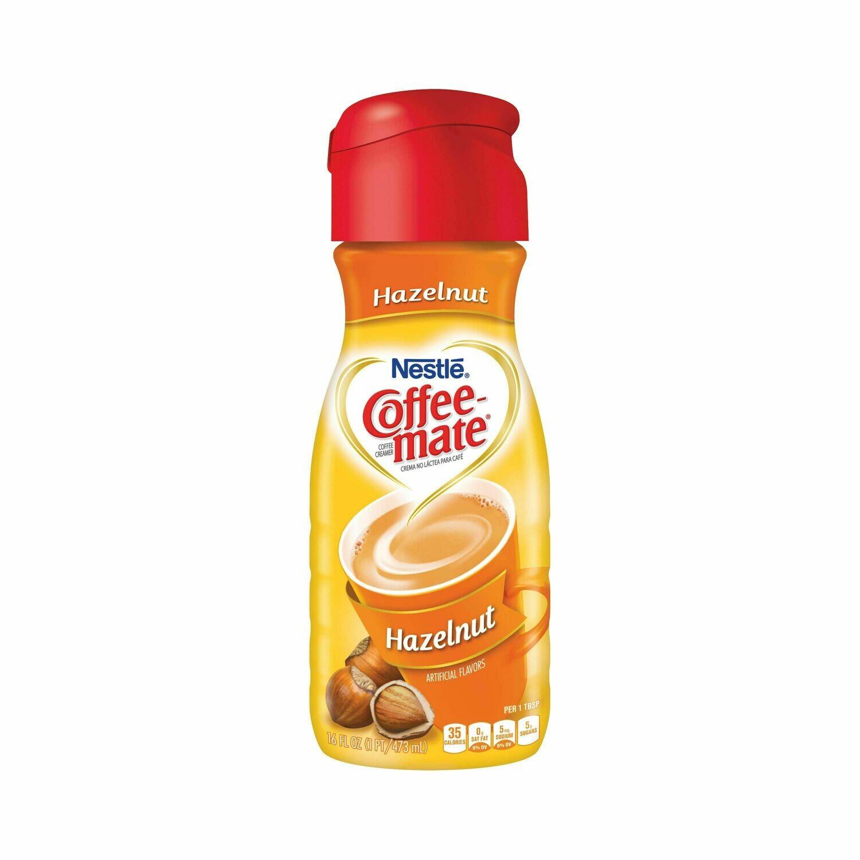 * Coffee Mate Hazelnut 16 Ounces