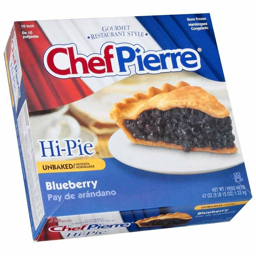 "* Chef Pierre 10"" Unbaked Blueberry Pie"