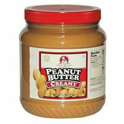 * Chef's Quality Crunchy Peanut Butter 4 Lb Jar