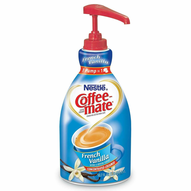 * Coffee Mate French Vanilla Creamer Pump 1.5 Ltr