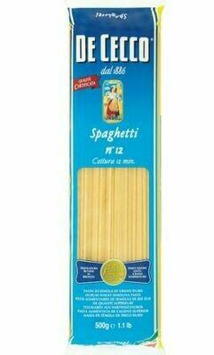 * DeCecco Spaghetti #12 Pasta 1 Pound
