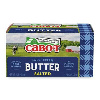 * Cabot Salted Sold Butter 1 Lb