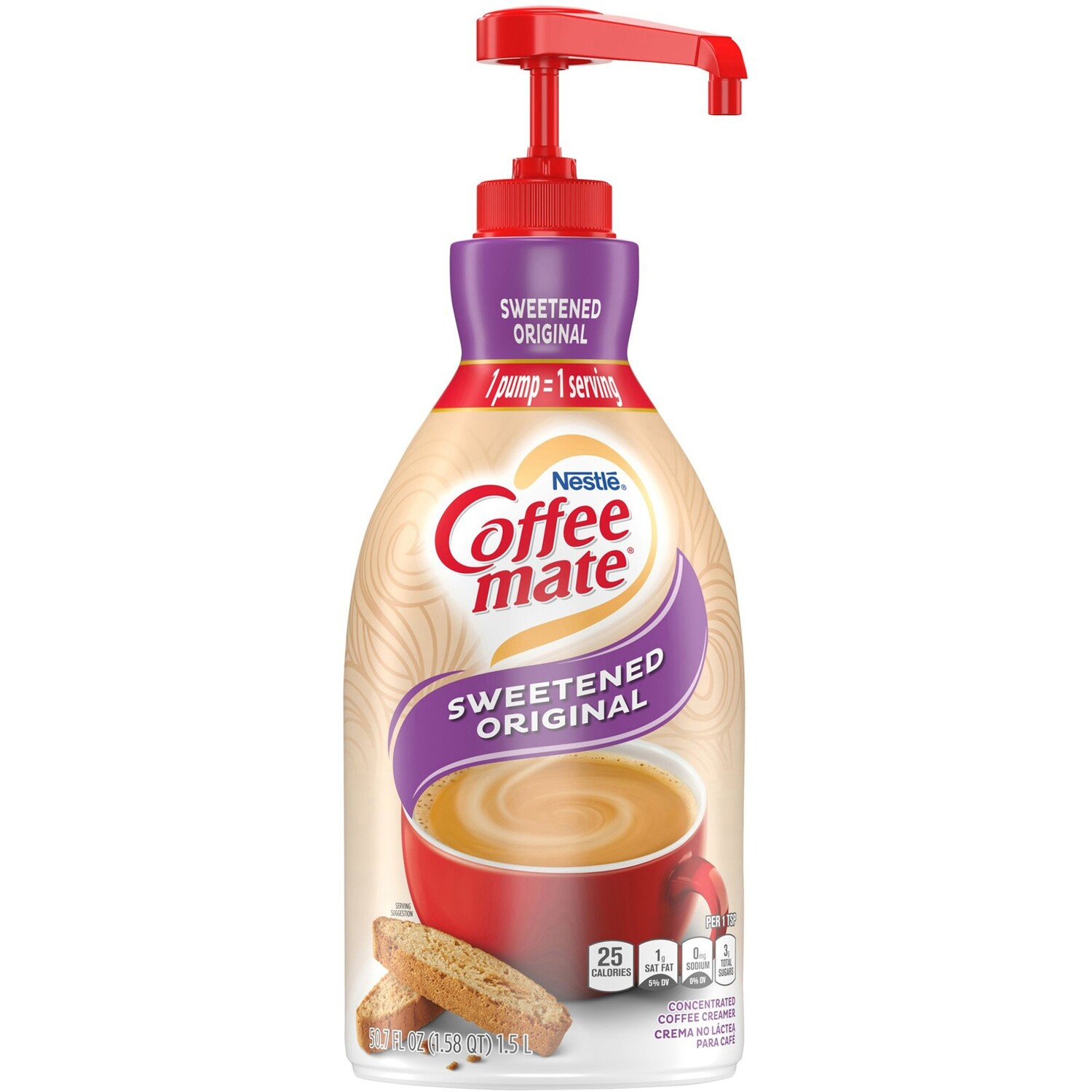 * Coffee Mate Original Creamer Pump 1.5 Ltr