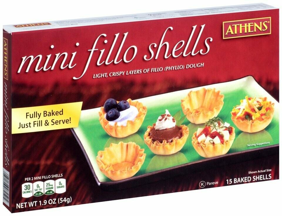 * Frozen Athen's Mini Filo Shells 15 Count