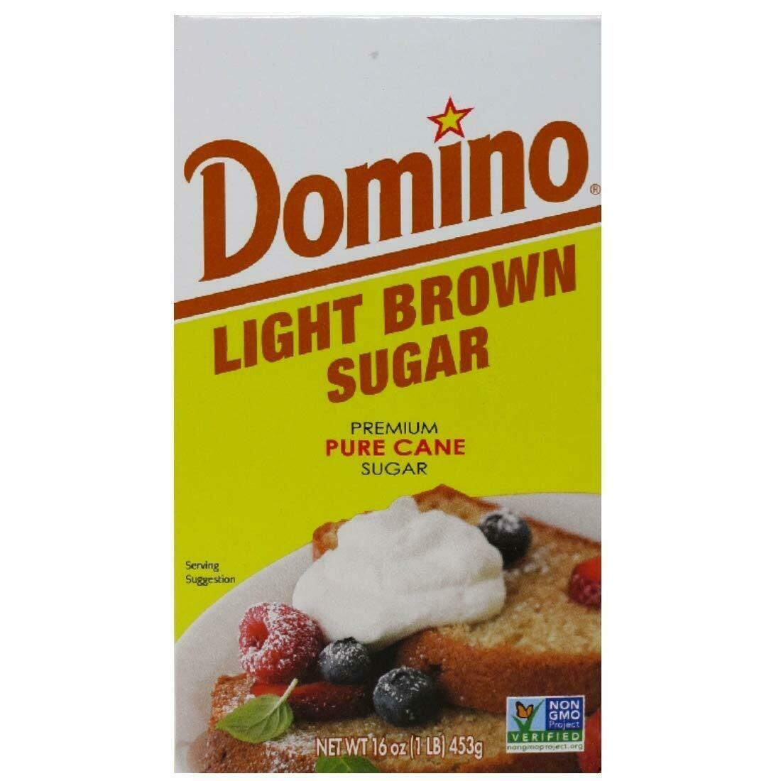 * Domino Light Brown Sugar 1 Pound