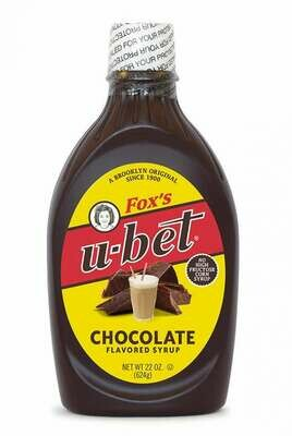* Fox's U-Bet- Chocolate Syrup 22 Ounces Squeeze Bottle