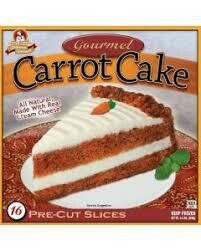 * Frozen Chef's Quality Carrot Cake With Cream Cheese Icing 16 Slices