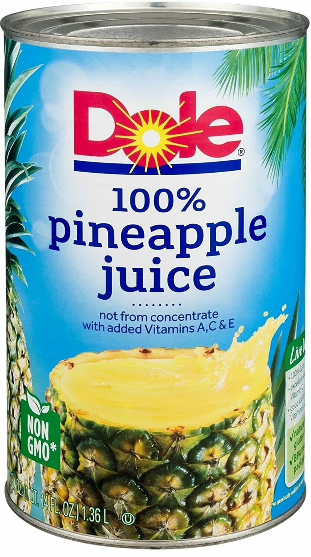 * Dole Pineapple Juice 46 Ounces Cans