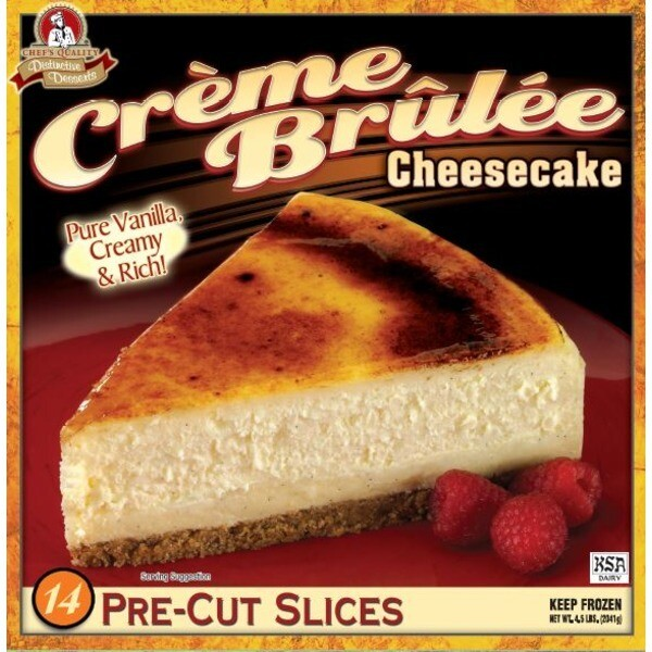 * Frozen Chef's Quality Creme Brulee Cheesecake 14 Slices