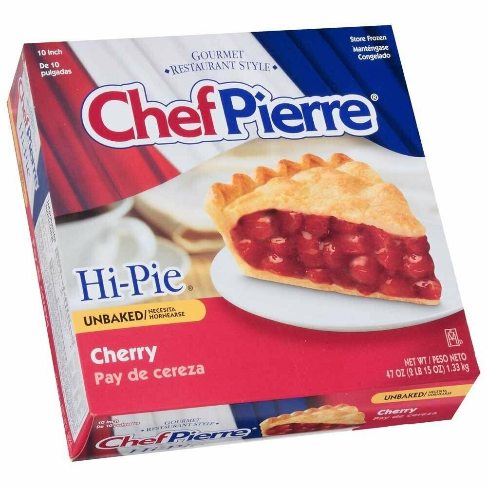 * Frozen Chef Pierre Unbaked Cherry Pie 10 Inch