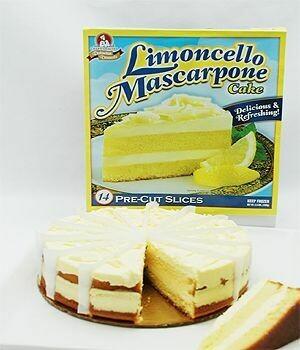 * Frozen Chef's Quality Limoncello Mascarpone Cake 14 Slices